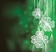 St. Patrick's Day  background in green colors with clovers.