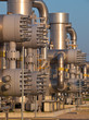 Detail of a natural gas processing plant