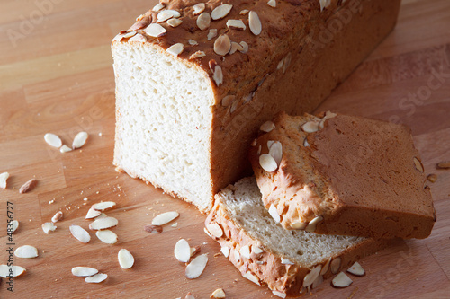 Fresh baked loaf of gluten free almond bread