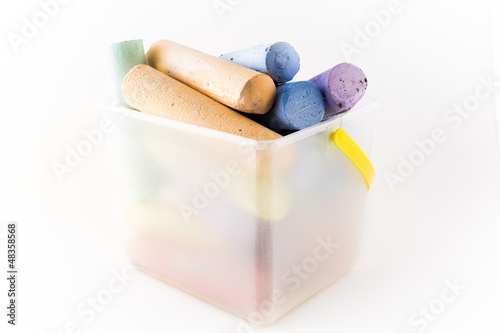 Bucket of Used Chalk