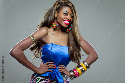 African-american fashion model.