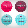 Badges rétro Saint Valentin