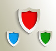 Design of shield labels stamps stickers use.