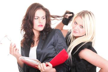 two pretty diverse young women social diversity