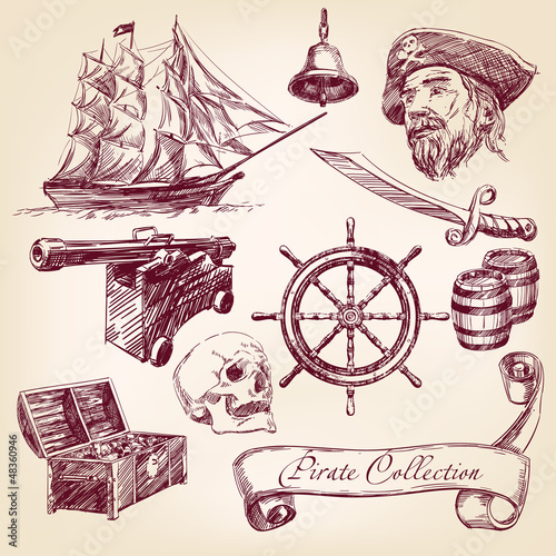 pirate collection vector illustration