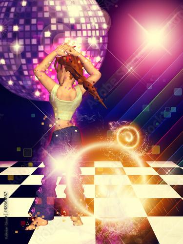 Girl on dance floor