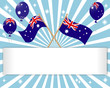 Australia Day. Festive banner.