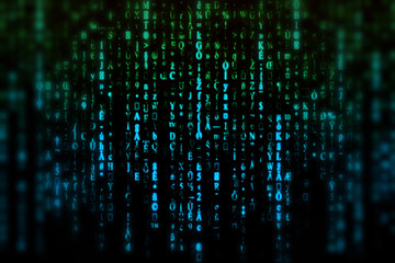 Matrix, blur background