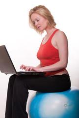 Attractive caucasian woman exercising