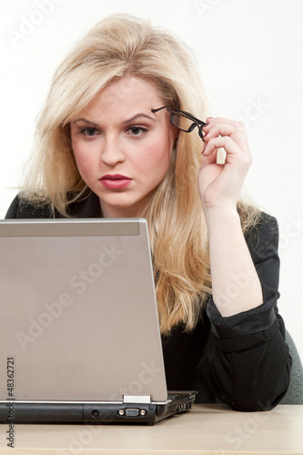 Pretty caucasian blond businesswoman