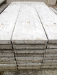 Stack of concrete building slab on ground in stock