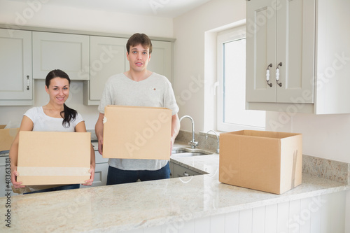 Young couple relocating