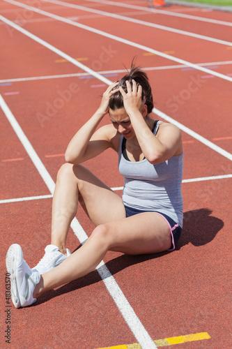 Runner distressed at injury