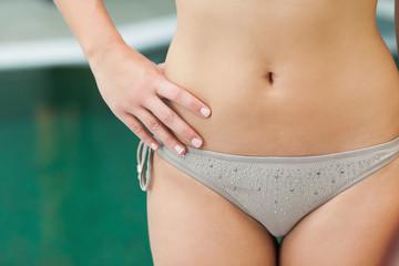 Grey bikini bottoms