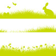 3 Easter Meadow Header Bunny Green