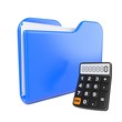 Blue Folder with Toon Calculator.