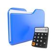 Blue Folder with Toon Calculator.