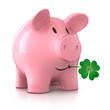 Glücksschwein mit Kleeblatt 2