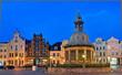 Abenlicher Marktplatz Wismar Wasserkunst