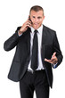 Homme d'affaires téléphonant