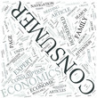 Consumer economics Disciplines Concept