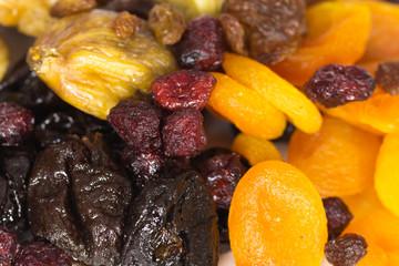 getrocknete Crannberries, Aprikosen,Feigen, Pflaumen