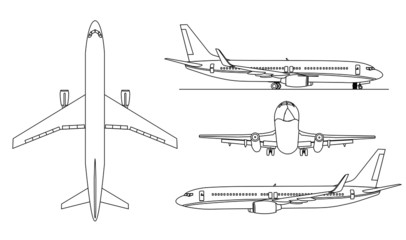 Arplanes silhouettes