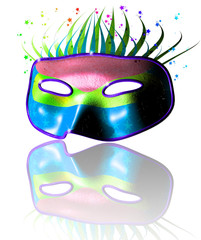 3D Carnival Party Colorful Mask-Maschera Festa Carnevale