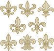fleur de lis scroll antique
