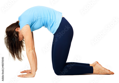 yoga exercising
