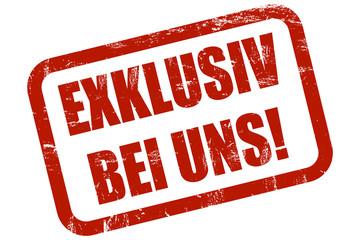 Grunge Stempel rot EXKLUSIV BEI UNS!