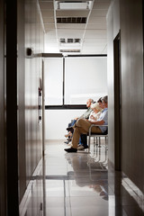 People In Hospital's Waiting Area