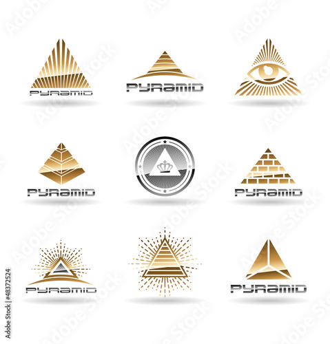 Pyramids. Pyramid With Eye. Vol 2.