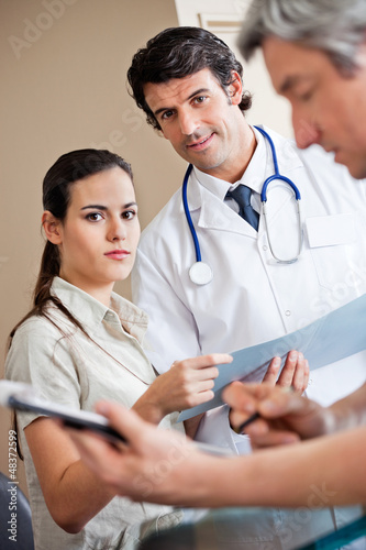 Medical Coworkers Standing Together