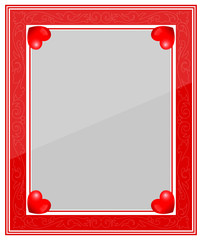 Designer Red Photo Frame