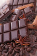 chocolate bar and spices