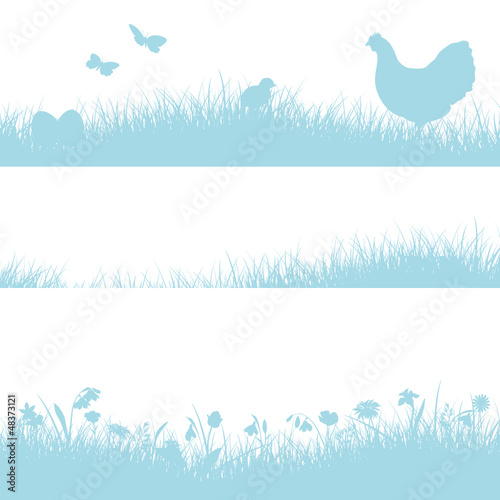 3 Meadow Header Hen Blue