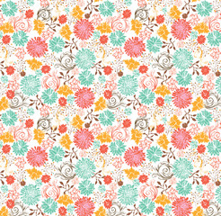 floral seamless pattern, vector design