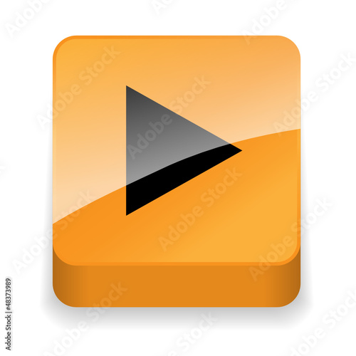 PLAY Web Button (watch view video icon media player live music)