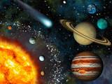 Fototapety Realistic 3D Solar System Wallpaper