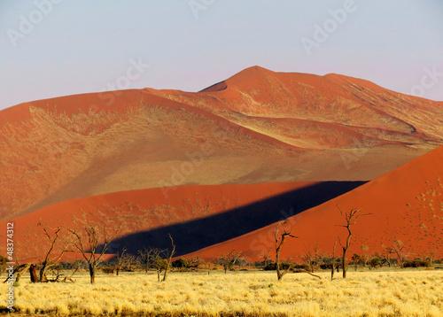In de dag Oranje eclat Kalahari Desert