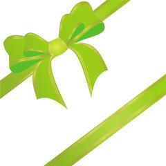 Schleifenband in grün