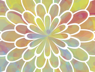 Colorful floral background over white