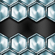 Metallic Hexagons Background