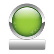 BLANK web button (round green metallic blank gel)