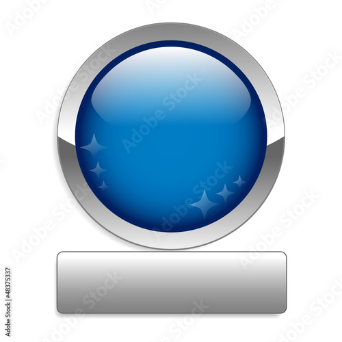 BLANK web button (round blue metallic blank gel)