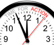 Clock. Time for action