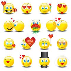 Smilies Smiley Emoticon faces icon set 6