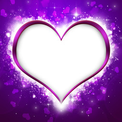 Purple Valentine`s Heart Background