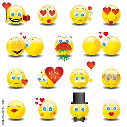Smilies Smiley Emoticon faces icon set 6